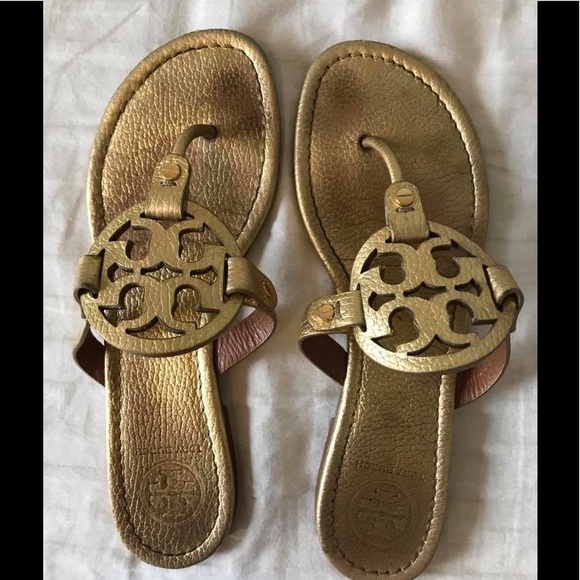 1d4aa1f0ceb80 Authentic Tory Burch Miller Sandals Gold. M 5ae08db4f9e5015699682b2a